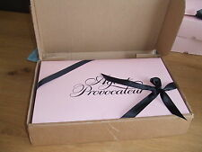 "AGENT PROVOCATEUR ICONIC 12""X8"" PINK GIFT BOX IN OUTER BOX WITH TISSUE & RIBBON"