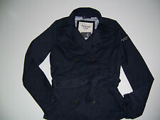 NWT Abercrombie & Fitch Trench Coat Classic Fall  $120 Light Jacket Belted M New