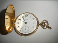 Antique 14K Solid Gold WALTHAM Pocket Watch 16s15J,Hunter Case, Run 84.3 Grams