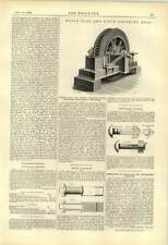 1888 Hall Coal Pitch Grinding Mill Stark Nut Lock Company