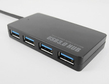 Compact 4-Port USB 3.0 Hub 5Gbps Portable for PC Mac Laptop Notebook Desktop