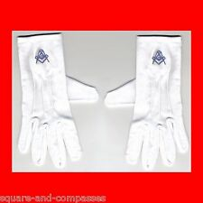 S/M BLUE LODGE MASONIC FREE MASON FREEMASON WHITE DRESS GLOVES FREEMASONRY GIFT!