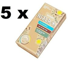 5 Rizla NATURA ULTRA SLIM 5.7mm filter tips ,brown color (600 Filter tips)