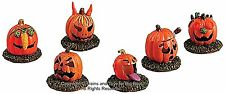 Lemax 52117 PUMPKIN PEOPLE Set of 6 Spooky Town Accessories Halloween Decor I