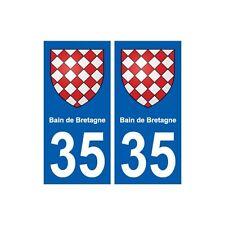 35 Bain-de-Bretagne blason autocollant plaque stickers ville droits