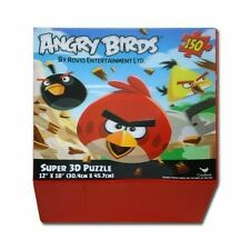 "Puzzle 150 pc Super 3D Lenticular 12""x18"" Angry Birds NIP"