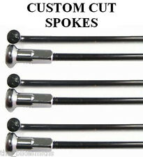 WHEELSMITH SS14 BLACK Spokes 32 PACK Custom Length Stainless Steel 14 gauge