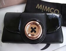 MIMCO BLACK LUSTRE BUTTON WALLET
