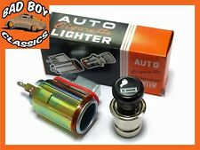 12v Classic Retro Style Cigarette Lighter & Socket Illuminated For CLASSIC CAR