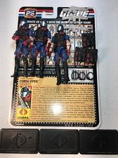 GI Joe Cobra 25th Anniversary Figure Lot Cobra Viper x3 Army Builder