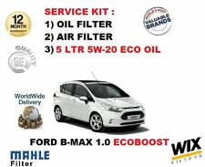 FOR FORD B-MAX B MAX 1.0 ECOBOOST 2012-> OIL AIR 2 FILTER SET + 5LITRES  OIL KIT