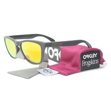 Oakley OO 9013-31 POLARIZED FROGSKINS Dark Grey Fire Iridium Mens Sunglasses