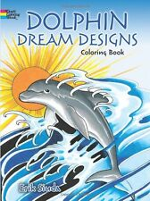 Dolphins Animals Adult Colouring Book Sea Dreams Mermaid Blue Whale