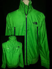 THE NORTH FACE Mens Light Wright Windbreaker Jacket Coat Hoodie Green Sz Small