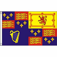 Royal Banner 1603-89 And 1702-07 Flag 5Ft X 3Ft British Army Military Banner New