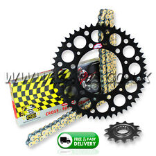 Yamaha YZ125 2005-2017 Regina ORN-6 O'Ring Chain And Black Renthal Sprocket Kit