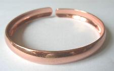 """Classique Cuivre Bangle Bracelet S compatible avec poignets jusqu'à 6"""" 15cm"""