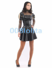 100%Latex Rubber Black and Gray smoke Stylish Dress Size XS~XXL