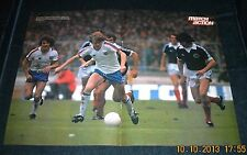MATCH MAGAZINE-POSTER-MATCH ACTION-ENGLAND V SCOTLAND-PETER BARNES ON A MAZY RUN