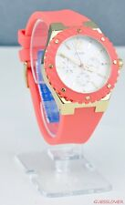 NWT Box Watch GUESS Orange Rubber Ladies New U11681L1
