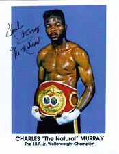 Charles The Natural Murray signed auto boxer boxing photo 8X10 Rochester, NY coa