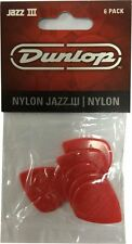 Jim Dunlop Jazz III Guitar Picks - Red 6 Pack