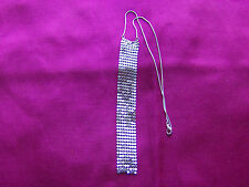 Silver Coloured Statement Necklace, Snake Chain, Chain Mail Pendant,  UK Seller