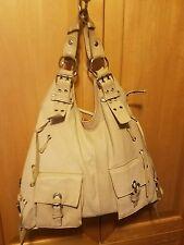 Tano Leather Large Hobo Purse Handbag With Pocket And Buckles