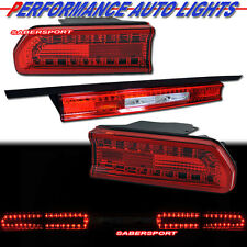 """2008-2010 DODGE CHALLENGER """"L.E.D."""" LED TAIL LIGHTS RED PLUG n PLAY 3 PIECES"""
