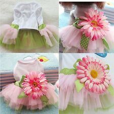 Pet Dog Puppy Cat Cute Lovely Princess Bowknot Dress Skirt Clothes Apparel Large
