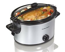 Hamilton Beach 33269 Counter-top Stay or Go Slow Cooker, 5-Quart, Silver