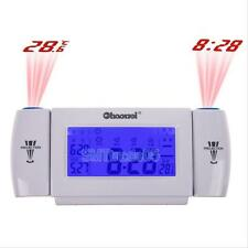 Digital LCD Snooze Dual Projection Voice Controlled Temperature Time Alarm Clock