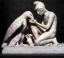 Thorvaldsen Berthel Ganymede Waters Zeus As An Eagle A4 Print