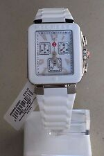 Michele Tahitian Jelly Bean Park Women's Silver White Silicon Watch MWW06L000001