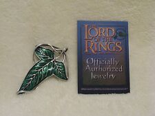 Lord of the Rings 'The Elven Brooch' Noble Collection 1st Ed Rare Silver & Green