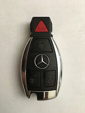 FCC ID:IYZDC07 OEM MERCEDES BENZ  4 BUTTON SMART KEY LESS REMOTE FOB CHROME