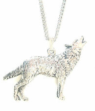Wolf Pendant Handcrafted in Solid Pewter In The UK + Free GiftBox PN80