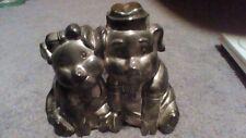 Vintage Godinger Silver Art Co. Silverplate Mr & Mrs Duel Piggy Bank