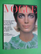 VOGUE Italia April 1970 Jean Shrimpton Ingrid Boulting Andy Warhol Eva Aulin
