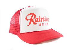 Rainier Beer hat Script Trucker Hat mesh hat red auction or buy it now NEW