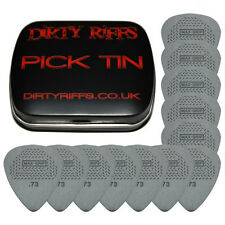 12 x Dunlop Max Grip Standard Guitar Picks / Plectrums - 0.73mm In A Pick Tin