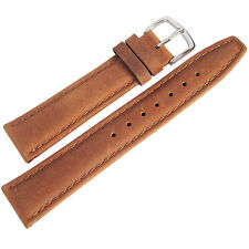 17mm Hadley-Roma MS881 Mens Rust Brown Smooth Padded Leather Watch Band Strap