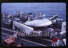 1967 Ektachrome Photo slide Navy airplane USS Bennington Grumman S-2 Hawkeye