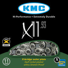 KMC X11-93 11 Speed Road or Mountain Bike Chain Shimano Sram NEW Silver/Grey
