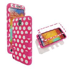For Samsung Galaxy Note 3 III N9000 Hybrid Box Pnk Polkadot Case Cover