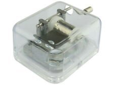 Hand Crank Clear Acrylic Music Box Musical Movements with Canon in D Tune