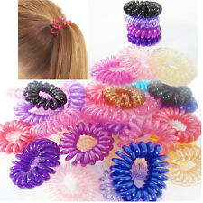 New Spiral Plastic Hair Bands Baby Girls Ponytail Elastic Stretchy Bobbles 10pcs