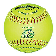 "MacGregor Pony Approved 12"" Softball - 1 DOZEN"
