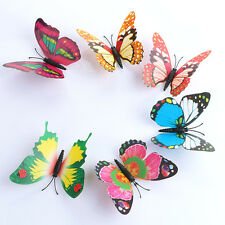 3D DIY Butterfly Wall Sticker Butterfly Home Decor Room Stickers 24Pcs/Set Color