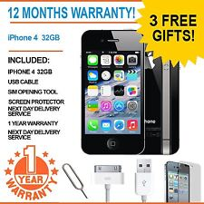 APPLE IPHONE 4 - 32 GB - BLACK (UNLOCKED) SMARTPHONE